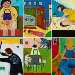 Her Trial Begins...Six Paintings