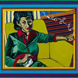 Mom Smoking a Cigarette