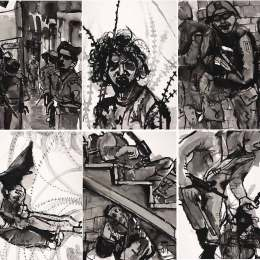 """Composite Middle East Drawings   (6) 18""""x24"""""""