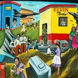 """The Great Migration from El Salvador to Santa Cruz Series-Kevin Todo           Acrylic on Canvas     30""""x 24"""""""