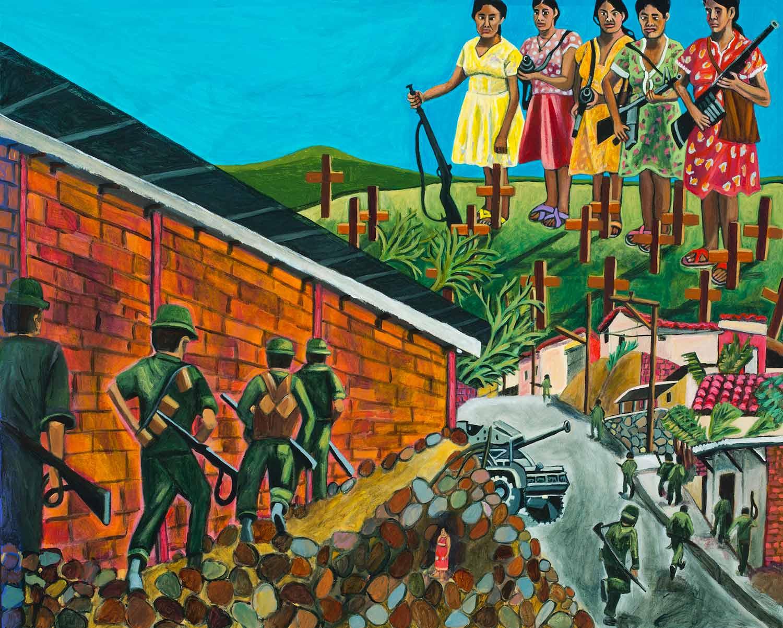 The Great Migration from El Salvador to Santa Cruz Series: Girl In Rubble