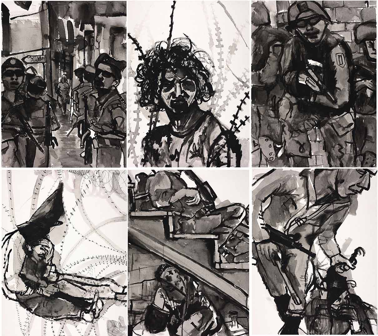 Occupation Series: Composite Middle East Drawings (6)