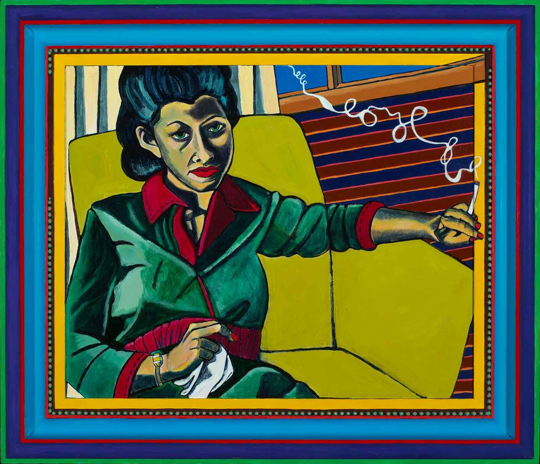 Family Portrait: Mom Smoking a Cigarette