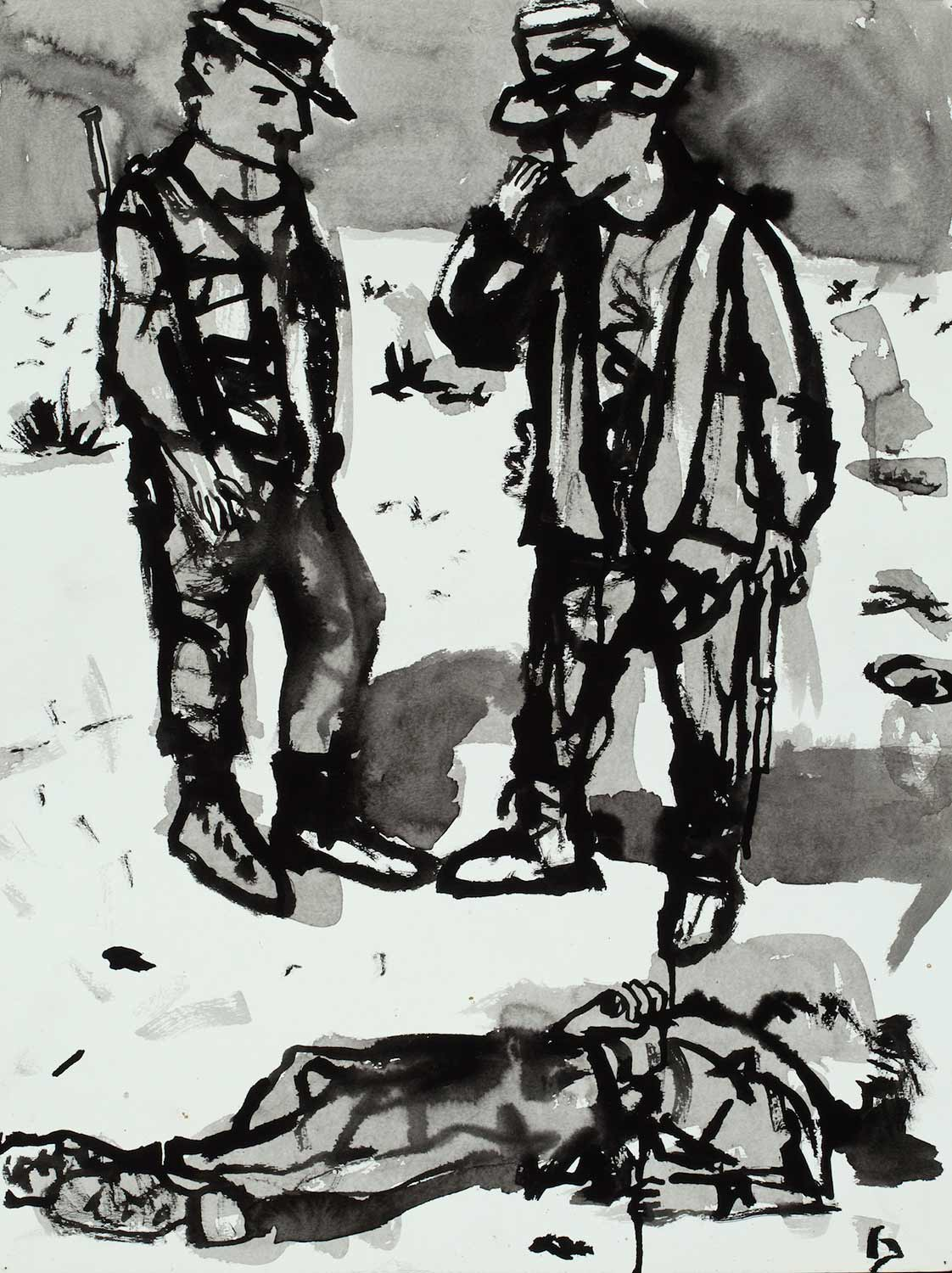 Occupation Series: Soldiers with Dead Body